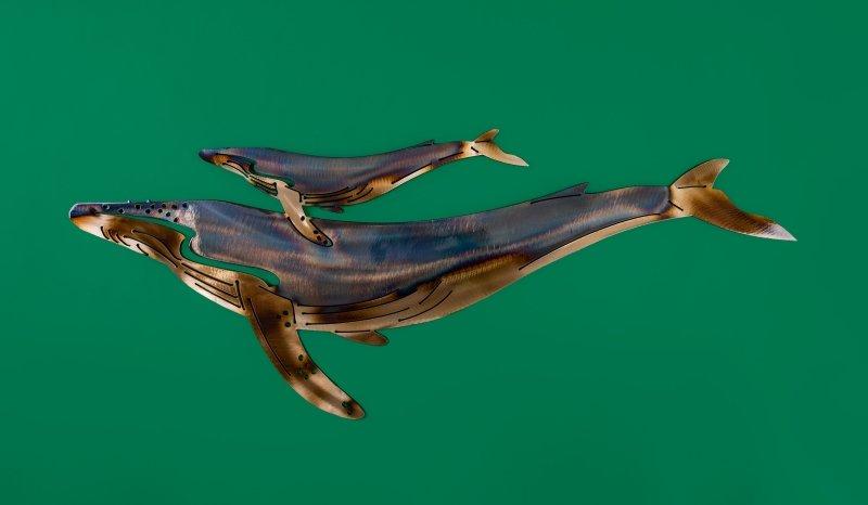 Blue whale + calf