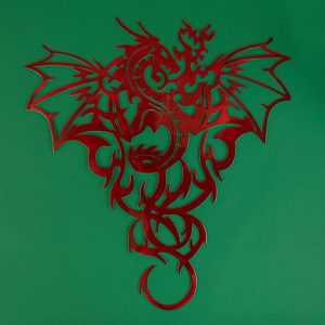 Intricate red dragon design red