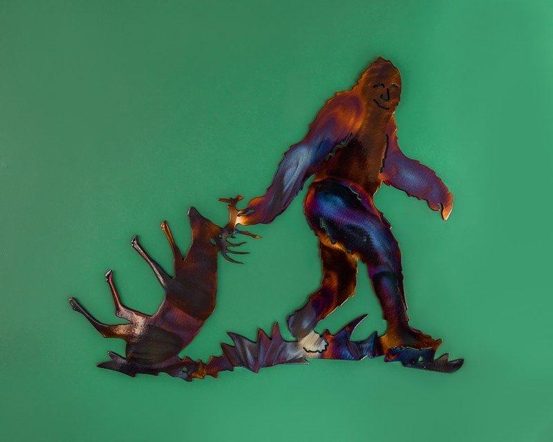 Sasquatch Bigfoot Metal Art by Creative Iron Works